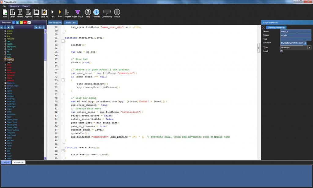 Booty5 HTML5 code editor