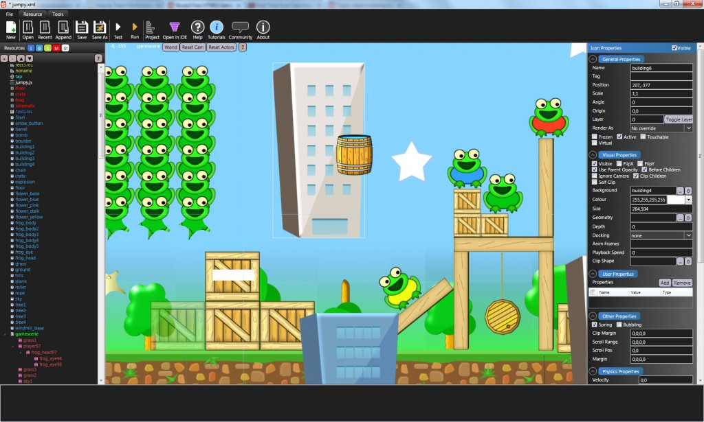 Booty5 main HTML5 game editor