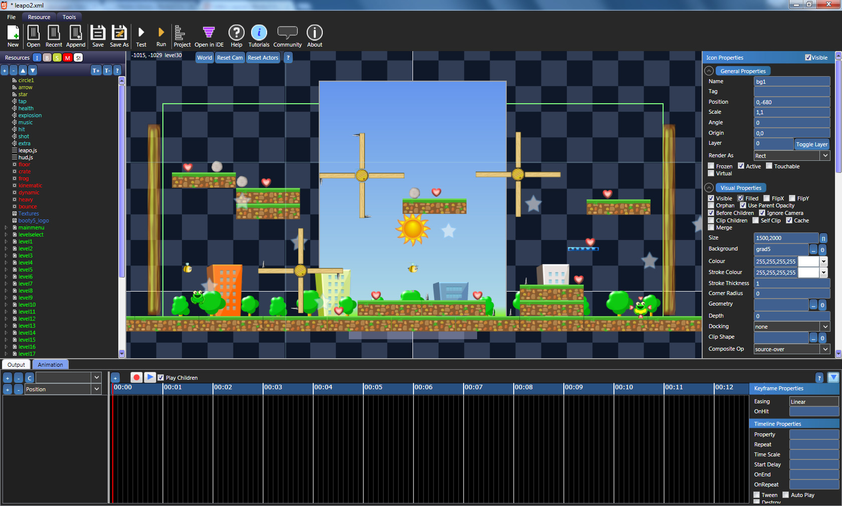 Editor Layout Booty5 Free Html5 Game Maker And Game Engine
