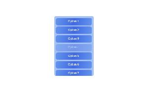 Scrolling list menu HTML5 demo